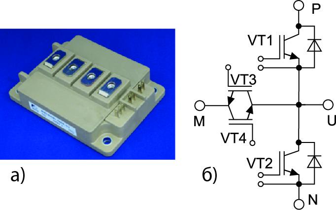 Вариант исполнения трехуровневого T-Type NPC-модуля от Fuji Electric