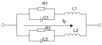 Эквивалентная схема(рис. 2а) SiC JBS-диода