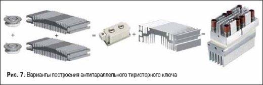 Варианты построения антипараллельного тиристорного ключа