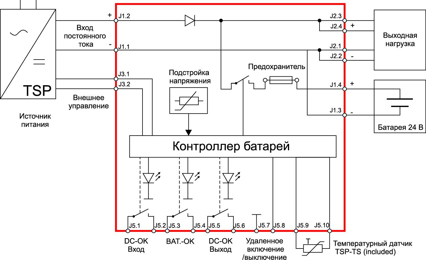 Типовая схема включения TSP–BCM24