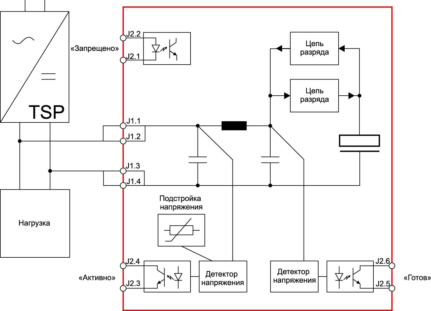 Схема включения TSP–BFM24