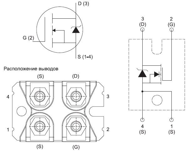 Структура и конструкция модуля VS-FB190SA10