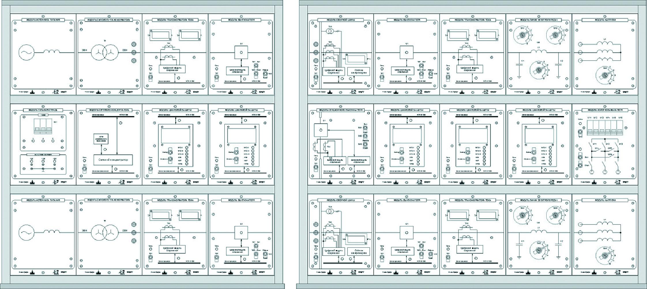 Внешний вид лабораторного стенда «Модель цифровой подстанции»