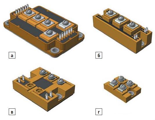 Варианты корпусов IGBT-модулей отечесвенного производстава