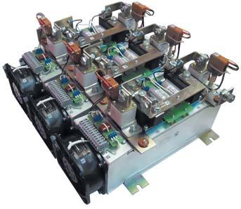 Силовой блок выпрямителя натрех охлаждающих системах О55