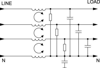 Принципиальная схема фильтров серии AYO