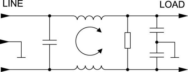 Принципиальная электрическая схема фильтров серии B