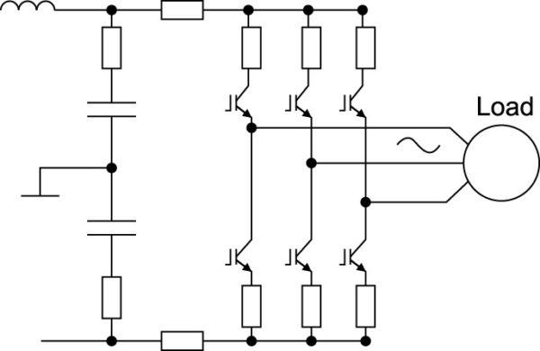 Защита IGBT-инвертора, питающего трехфазный электродвигатель