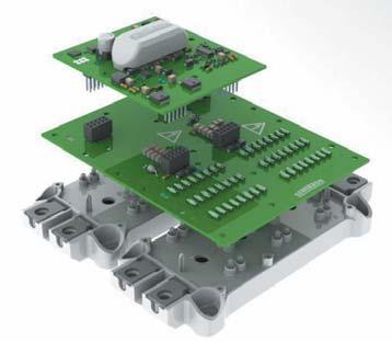 Драйвер на основе ядра SKYPER 42 способен управлять параллельным соединением двух и трех модулей IGBT