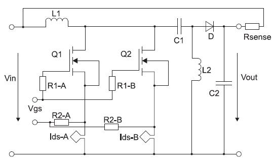Схема конвертера SEPIC