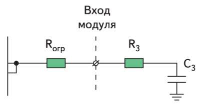 Эквивалентная схема входа силового модуля