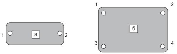 Порядок затягивания винтов 1-2 (корпус 34×94 мм)
