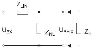 Принцип построения параметрического стабилизатора напряжения
