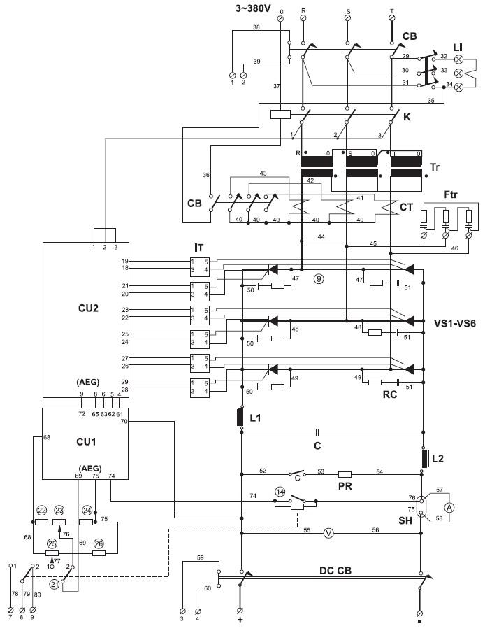 Принципиальная электрическая схема ЗПА фирмы Winterfeld