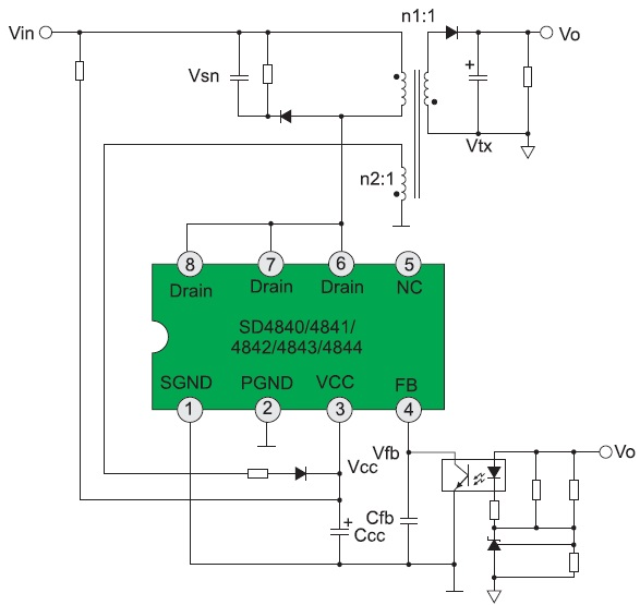 Схема включения SD484X