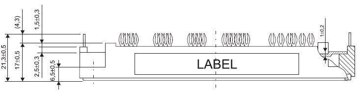 Фрагмент габаритного чертежа модуля 7MBR100VX120-50