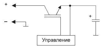 Структурная схема заряда с помощью зарядного транзистора