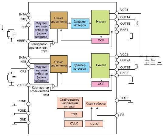 Структура и типовое включение микросхем BD63920/63940/63960EFV
