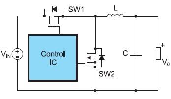 Типовая схема синхронного DC/DC-преобразователя