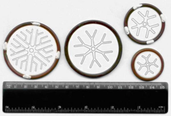 Кремниевые структуры тиристоров, составляющих новую серию