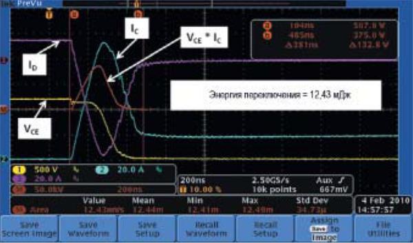 Второе включение IGBT со стандартным диодом Si PiN