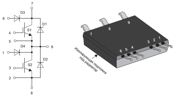 Внешний вид и структура модулей IXA 20PG1200DHGLB, IXA 40PG1200DHGLB