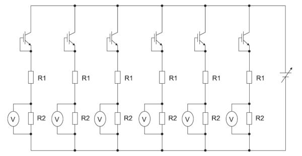Цепь из шести параллельно соединенных IGBT для ускоренного эксперимента с облучением нейтронами