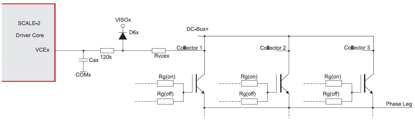 Измерение Vcesat при управлении тремя параллельными транзисторами от одного драйверного ядра