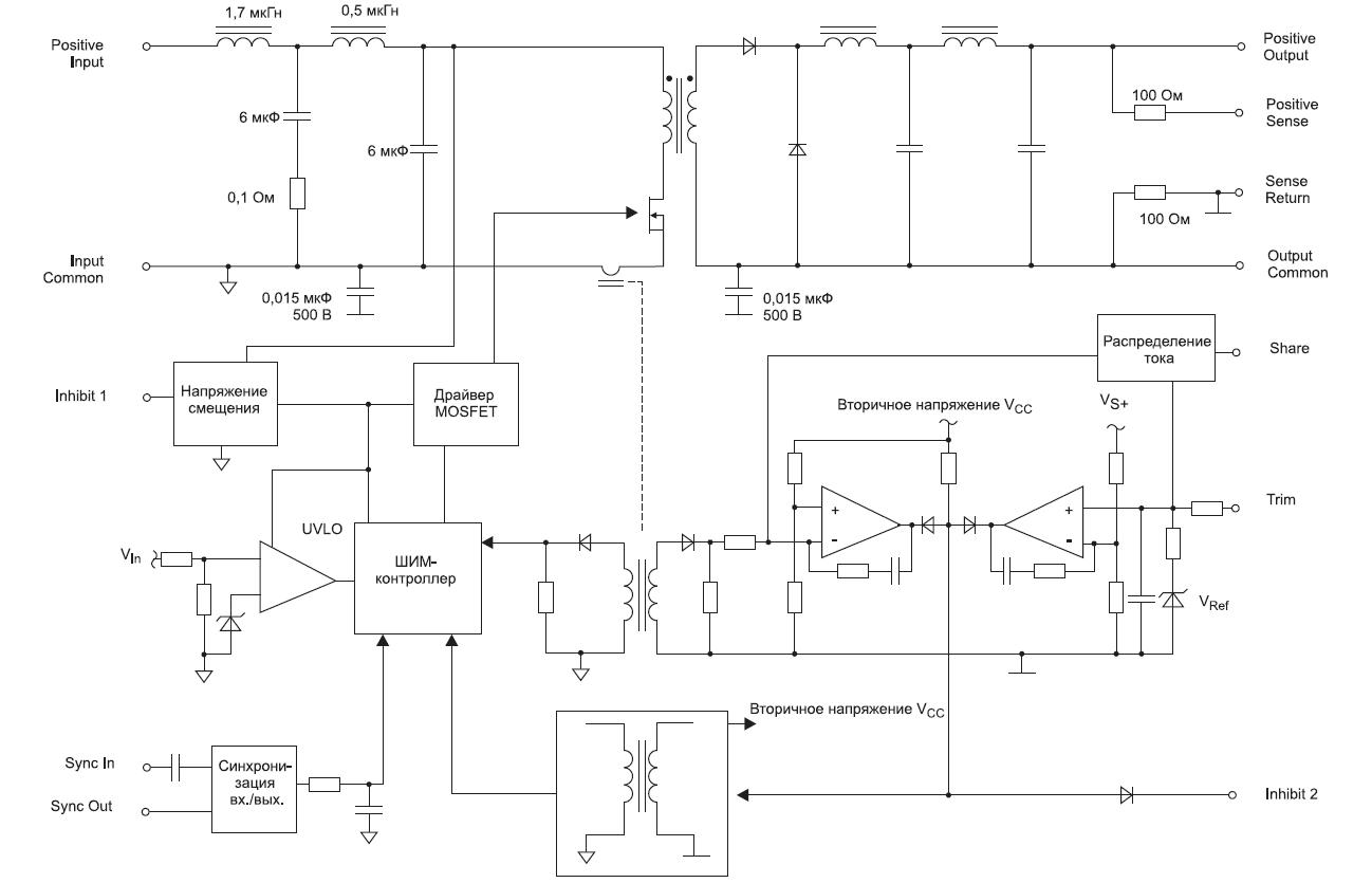 Структурная схема одноканального преобразователя серии MOR