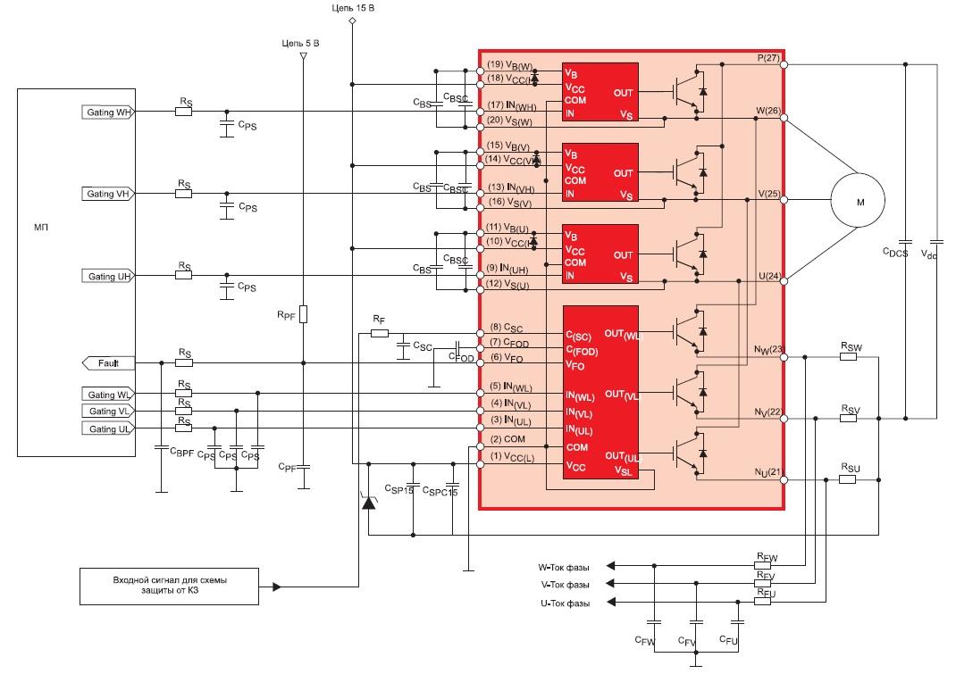 Схема включения модулей SPM3