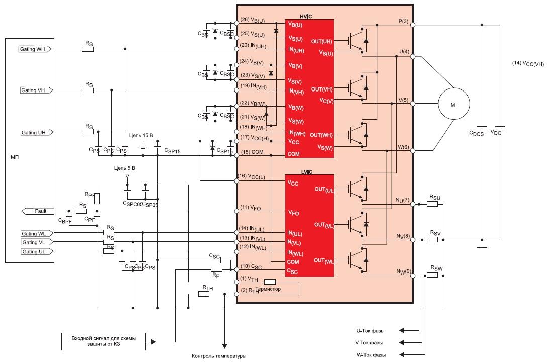 Схема включения модулей серииSPM45H