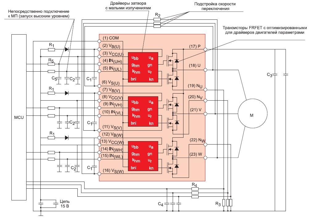Схема включения модулей серииSPM5