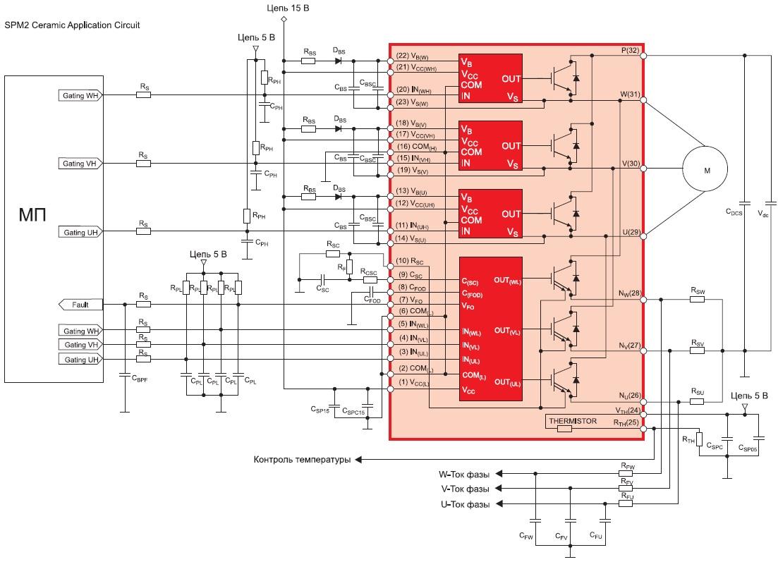 Схема включения модулей серии SPM2