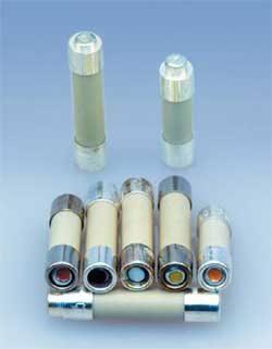 Цилиндрические предохранители с индикатором: 5×20; 5×25 мм
