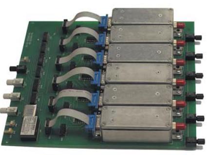 Шестиканальная плата оптического драйвера для коммутатора импульсов тока субмиллисекундного диапазона