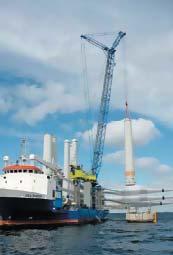 Монтаж оффшорной ветроэнергетической установки высокой мощности