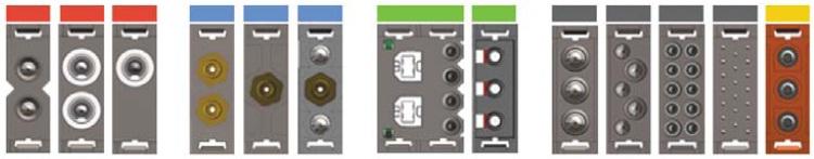 Модульные вставки дляформирования гибридных разъемов