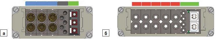 Примеры популярных модульных разъемов