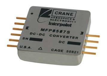 Внешний вид модуля DC/DC – преобразователя MFP0507S в исполнении с горизонтальным расположением выводов для объёмного монтажа