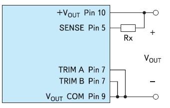 Схема использования вывода SENSE для увеличения выходного напряжения