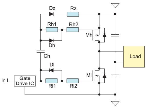 Управление p-канальным и n-канальным MOSFET с помощью одного драйвера