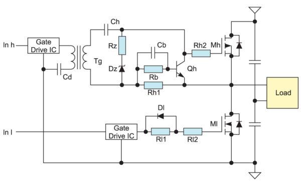 n-канальный MOSFET, управляемый через импульсный трансформатор