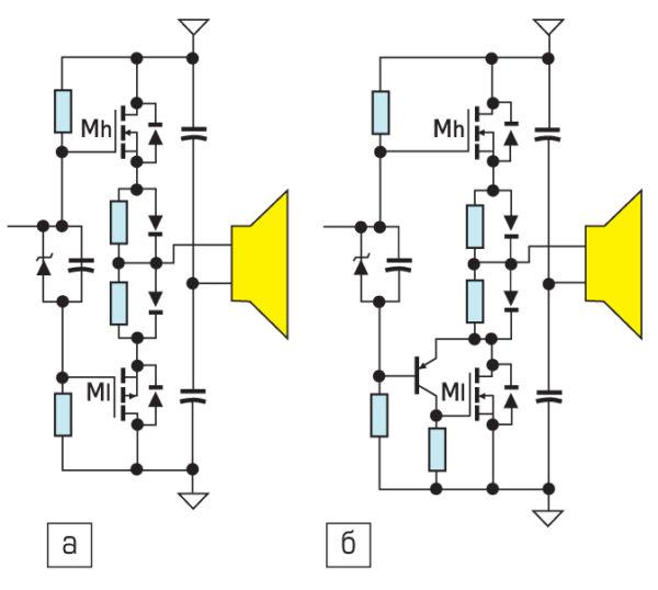 Выходной каскад на MOSFET для аудиоусилителя
