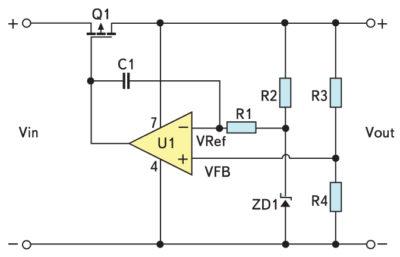 Схема зарядки и защиты аккумуляторной батареи на p-канальном MOSFET