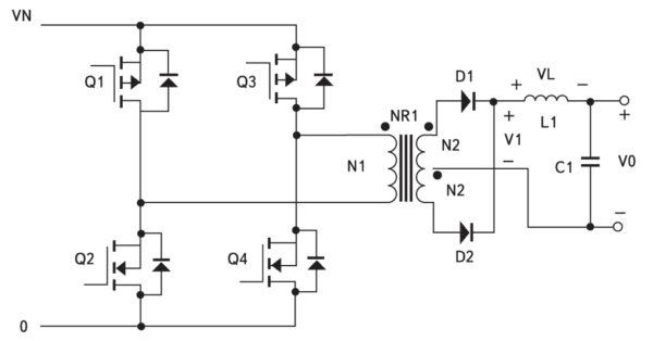 Мостовой преобразователь с P-канальными MOSFET в верхнем ключе
