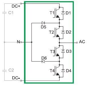 Схемотехническая реализация трехуровневого инвертора