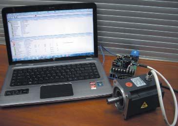 ПреобразовательIRMCS3041 сподключенным демонстрационным образцом двигателя