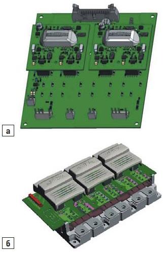 Драйвер 3L NPC-инвертора набазе двух полумостовых драйверов SKYPER