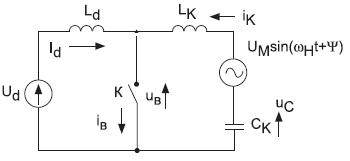 Расчетная схема несимметричного полирезонансного инвертора