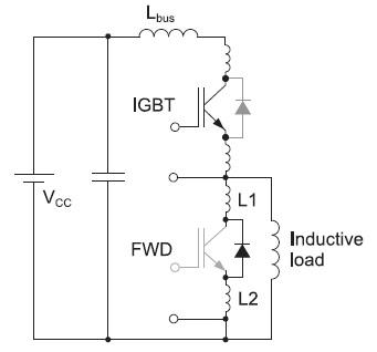 Эквивалентная схема модуля с паразитной индуктивностью